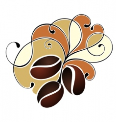coffee design with beans vector image