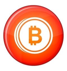 Coin bat icon flat style vector