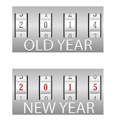 combination lock old and the new year vector image