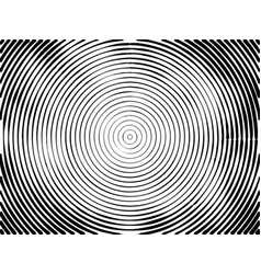 concentric circles halftone background vector image vector image