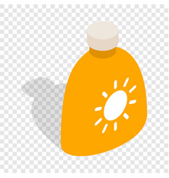 Cream sun protection isometric icon vector