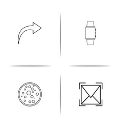 Devices simple linear icon set outline icons vector