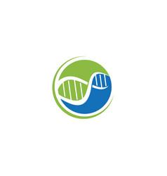Dna helix logo template genetics design biological vector