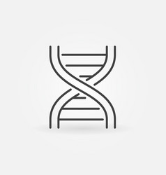 Dna strand abstract icon in thin line style vector