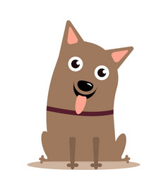 dog on white background vector image