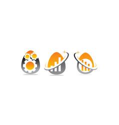 Egg business incubator set vector