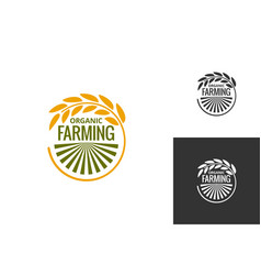 farm product logo fresh farming food produce icon vector image