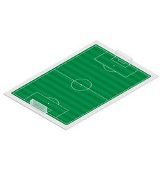 Field of play soccer isometric vector