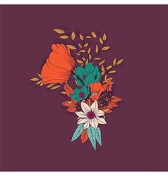 Flower bouquet botanical and floral decoration vector