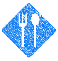 fork and spoon grunge icon vector image