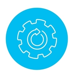 Gear wheel with arrow line icon vector