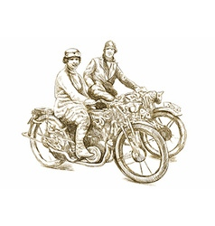 Girls on a Motorcycles vector