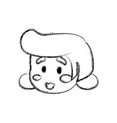 Grandmother elder cartoon vector