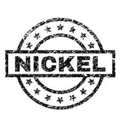 Grunge textured nickel stamp seal vector