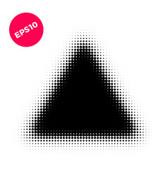 halftone dots graphic elements abstract triangle vector image