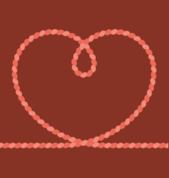 heart rope frame vector image