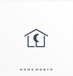 home month template vector image