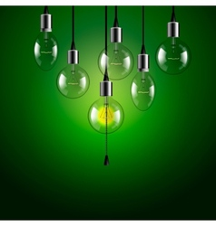 Idea concept Light bulbs background vector