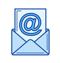 incoming mail line icon vector image