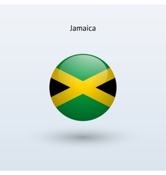 Jamaica round flag vector