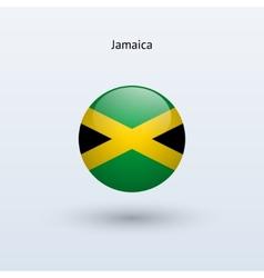 Jamaica round flag vector
