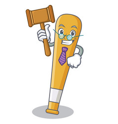 judge baseball bat character cartoon vector image