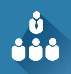 leader and group team meeting icon vector image