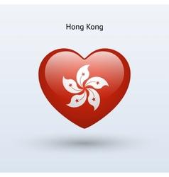Love Hong Kong symbol Heart flag icon vector image