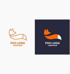 Modern fox logo and emblem vector