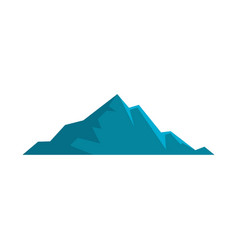 Nice mountain icon flat style vector