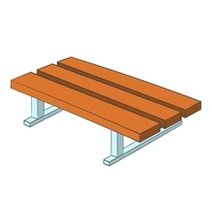 Park bench icon cartoon style vector