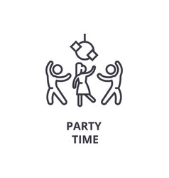 Party time thin line icon sign symbol vector