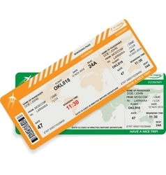 Pattern of airline boarding pass vector