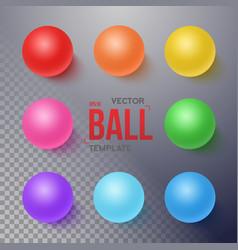 Photorealistic ball set template vector