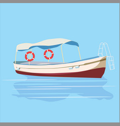 Pleasure boat banner vector