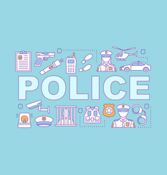 Police force word concepts banner vector