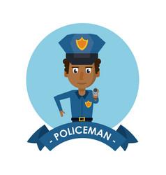 policeman cute cartoon vector image