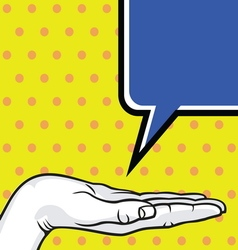 POPART FIST6 vector image