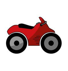 quad motorcycle icon vector image
