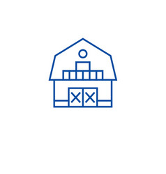 ranch house line icon concept ranch house flat vector image