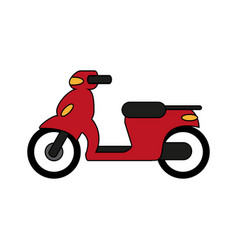 Red motorcycle design vector