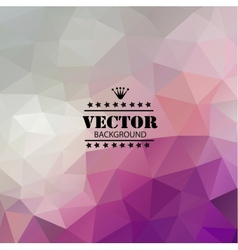 Retro background with triangular polygons vector