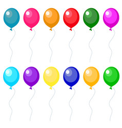 set of balloons vector image
