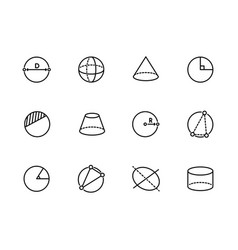 simple set geometric figures line icon vector image