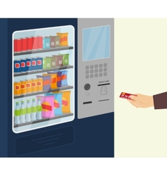 Snack vending machine vector image