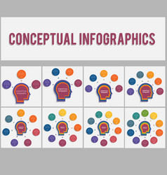 templates for conceptual infographics 3 4 5 6 7 8 vector image