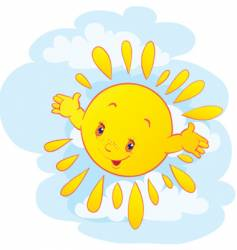 the cheerful sun vector image vector image