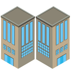 two angles of gray building vector image
