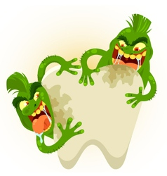 Ugly tooth germs vector