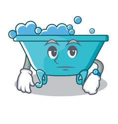 waiting bathtub character cartoon style vector image